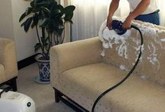 5 Simple Tips for Cleaning a Fabric Sofa - Talkdecor Sofa Cleaning Services, Best Carpet Cleaning Companies, Residential Cleaning Services, Mattress Cleaning, Quality Sofas, Sofa Material, Clean Sofa, Fabric Sofa