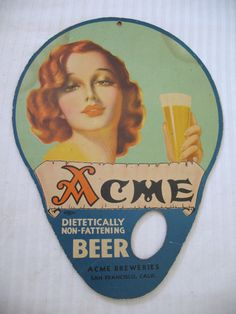Brewery San Francisco, Vintage Advertisements, Vintage Ads, Hand Held Fan, Hold On, Advertising, Fans, Beer, Antiques