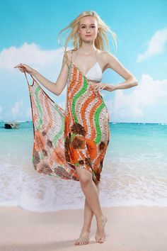 Tropical Orange Beach envoltório