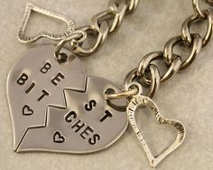 Best Bitches Keychain BFF Gift Best Bitches Split by Cute Jewelry, Jewlery, Heart Keyring, Bff Tattoos, Friend Necklaces, Bff Gifts, Just Girly Things, Cute Friends, Best Friend Goals