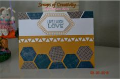 CTMH Live Laugh and Love stamp set and Urban paper