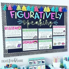 """Wild About Fifth Grade on Instagram: """"All the 😍😘😍 for this amazing bulletin board in @create.teach.share's classroom. We're just delving in to our figurative language unit and I…"""""""