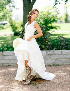 A line V Neck Country Wedding Gowns Rustic Bridal Dress 4 6 8 10 12 14 16 18 20+   Clothing, Shoes & Accessories, Wedding & Formal Occasion, Wedding Dresses   eBay!