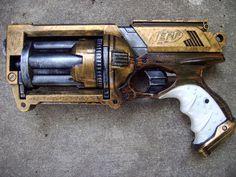 Steampunk Gun Nerf Maverick N Strike Victorian Gothic Cosplay Painted | eBay