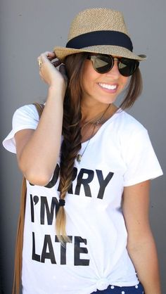 Sorry I'm Late Tee ♥ A Must Have!