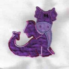 Hourly free embroidery design- Cute dragon 4
