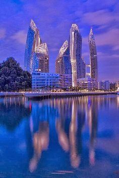 Reflections at Keppel Bay, Singapore - Visit http://asiaexpatguides.com and make the most of your experience in Asia! Like our FB page https://www.facebook.com/pages/Asia-Expat-Guides/162063957304747 and Follow our Twitter https://twitter.com/AsiaExpatGuides for more #ExpatTips and inspiration!