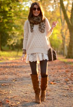 This is the perfect outfit for a fall day trip! I'd bring heels along with me. Just in case it turned into an evening affair.