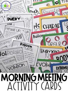 Fun morning meeting