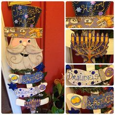 JUDAICA Funny CHANUKAH HARRY...Plant stake Wall by PoZiDesigns