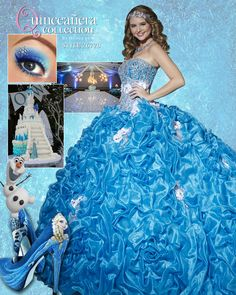 Melt hearts with a Frozen themed Quinceanera. Style 26778 is fit for a Princess. #Frozen #LetItBe #Princess #Quince