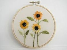 Resultado de imagem para sunflower embroidery
