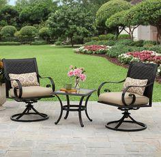 Better Homes And Gardens Englewood Heights II Aluminum 3 Piece Outdoor  Bistro Set, Seats