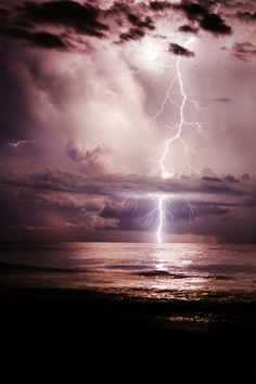 """heaven-ly-mind: """" Lightning Striking Through The Clouds """" Lightning Photography, Storm Photography, Types Of Photography, Landscape Photography, Nature Photography, Portrait Photography, Wedding Photography, Beautiful Sky, Beautiful Landscapes"""