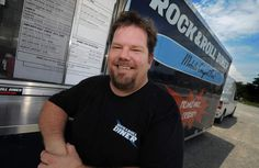 Charlie Hamill of Roanoke's Rock & Roll Diner food truck.