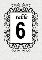 free table number templates swirly flowers wedding ideas
