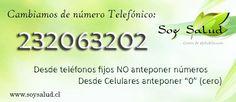 Este es nuestro actual número telefónico
