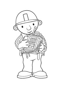 Welcome in free coloring pages site. In this site you will find a lot of coloring pages in many kind of pictures. All of it in this site is free, so you can print them as many as you like. Coloring For Kids, Coloring Pages For Kids, Coloring Books, Construction For Kids, Bob The Builder, Snoopy, Clip Art, Printables, Scrapbook
