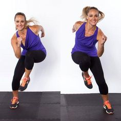 Top Ten New Exercises for Thinner Thighs: Side Shuffle Switch    This move is def not new but my body will think it is LOL