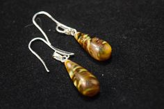 Natural Volcanic Cherry Quartz Teardrop Earrings by Jewelzbyjulznw