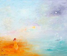 David Boyd, Ships Returning on Calm Sea, Waiting on the shore