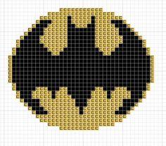 Free Batman Symbol cross stitch pattern!.