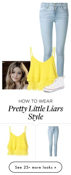 """##Pretty little liar(Alison Dialurentis)"" by redd-love on Polyvore featuring Frame Denim, Glamorous, Converse, women's clothing, women's fashion, women, female, woman, misses and juniors"