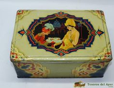 TesorosDelAyer.com · Old Antique Vintage Tin Box · Old tins boxes