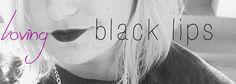 beauty:  black lips