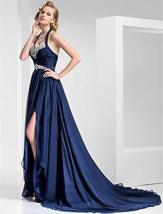 JAQUELINE - Vestido de Festa em Chifon e Cetim - GBP £ 77.39