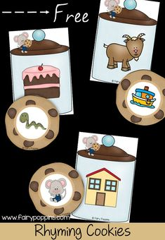 Rhyming cookies freebie! A sweet way to work on rhyming at a literacy center, independent work or review with kindergarten and first grade! #teachingreading #literacycenters