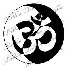 om yin yang tattoos - Google Search