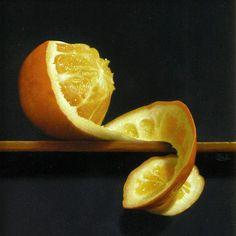 Naranja, still life. Hyper Realistic Paintings, Still Life Fruit, Food Painting, Painting Still Life, Vanitas, Fruit And Veg, Natural Forms, Life Inspiration, Paint Designs