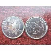 50 Cruzeiros Reais De 1993 Para Coleção - Onça Pintada