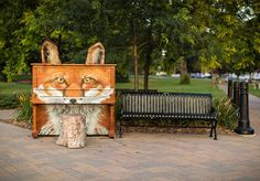 "Street pianos throughout the world - British artist Luke Jarram's ""Play me, I'm yours"" project began in Birmingham, UK, in 2008 with 15 pianos brought to various public places throughout the city for three weeks and has grown to more than 1000 pianos in 37 cities across the globe. #1 on the list is in Victoria Park, Cobourg, Ontario"