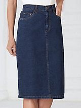 Jean Skirt by BendOver® Modest Outfits, Modest Fashion, Unique Fashion, Skirt Fashion, Fashion Ideas, Casual Outfits, Fashion Outfits, Button Front Denim Skirt, Denim Pencil Skirt