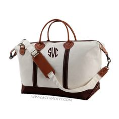 Monogrammed Weekender Bag - Brown – Ace & Ivy