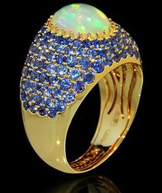 Mousson Atelier Riviera Gold Opal Ring R0072-010