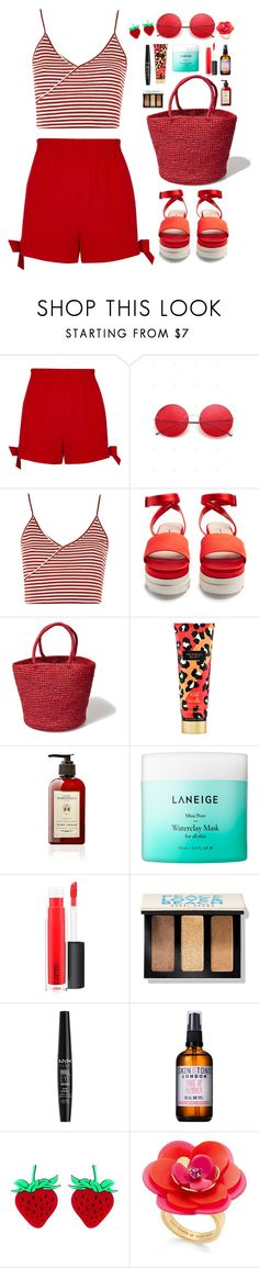 """You Better Know"" by krys-imvu ❤ liked on Polyvore featuring River Island, Topshop, Miu Miu, Victoria's Secret, Laneige, MAC Cosmetics, Bobbi Brown Cosmetics, NYX, Skin & Tonic and Kate Spade"