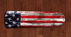 Rustic Barn USA American Flag Ceiling Fan BLADES living room decor Man Cave A in Home & Garden, Lamps, Lighting & Ceiling Fans, Lighting Parts & Accessories Patriotic Crafts, Patriotic Decorations, July Crafts, Americana Crafts, Painted Fan Blades, Fan Blade Art, Painting Ceiling Fans, Ceiling Fan Parts, Ceiling Fan Makeover