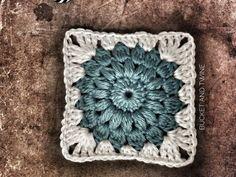 Starburst granny square free crochet oattern
