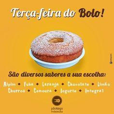 Terça-feira é dia do bolo na PãoToGo pois toda terça você encontra uma variedade maior de sabores um mais gostoso que o outro. Acompanhe na Revista DÁvila as matérias semanais da PãoToGo e também de todos os outros parceiros. http://ift.tt/1UOAUiP (link na bio).
