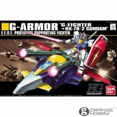(49.70$)  Watch more here - http://ai3x9.worlditems.win/all/product.php?id=32774562234 - OHS Bandai HGUC 050 1/144 G-Armor G-Fighter And RX-78-2 Gundam Mobile Suit Assembly Model Kits