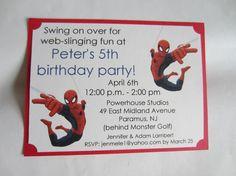 Spiderman Birthday Invitations by boutiquesheek on Etsy, $87.50