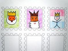 Postzegels koning| Knutselen Koningsdag