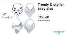 """Help me drop the price of the Copper Pearl Baby Bandana Bibs to $9.99 (71% off). The price continues dropping as more moms click """"Drop the price"""". Moms drop prices of kids & baby products by sharing them with each other."""