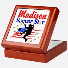 PERSONALIZE SOCCER Keepsake Box Your awesome soccer player will love our personalized Soccer Girl Décor, Tees and Gifts. http://www.cafepress.com/sportsstar/13561878 #SoccerGirl #Lovesoccer #Playingsoccer #Girlssoccer #Soccergift