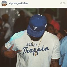 """S/o @stlyoungesttalent for posting and supporting ThinkSmart Apparel... """"legally Trappin"""" has been having a crazy response. I feel a lot of people that are striving to do better and achieve life long goals can relate to what I'm saying!"""