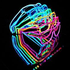 Light up glasses el wire glasses Rave wear by MoxieGlares. #EDCVegas #2014