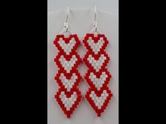 (2) Column Heart Earrings - YouTube